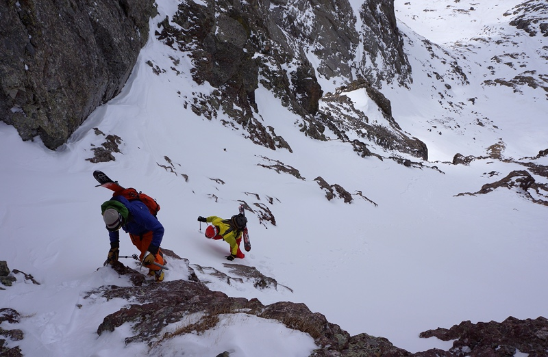 crestone-nw-couloir, firstchoke