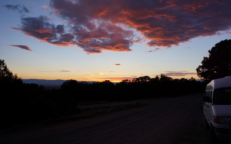 crestone, sunset